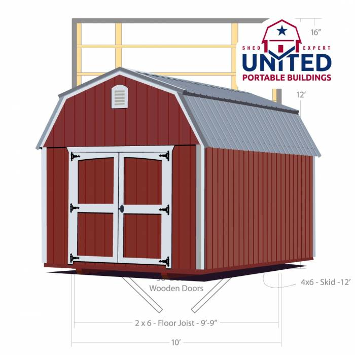 Lofted Barn: United Portable Buildings